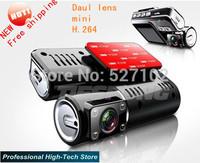Free shipping NEW car camera 720P 2.0 inch 4 smart  night vision G-sensor TFT LCD daul lens dash cam car dvr  video recorder