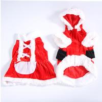 Pet Dog Christmas Clothes Santa Claus Costume Apparel Dress Coat Hoodie Sz XXS-L Free Shipping