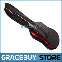 Electric Guitar Bass Gig Bag Black Backpack 600D Oxford Cloth Padded Guitarra Gigbag Included 5MM Thick Sponge For Sale
