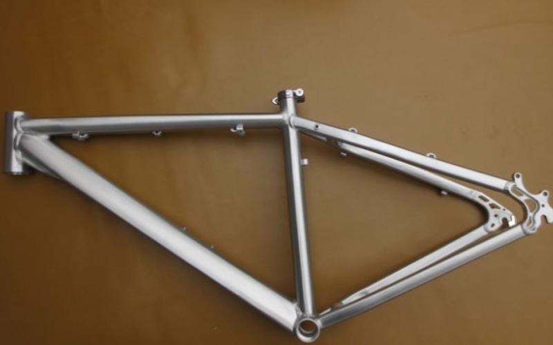 hot sale super cool aluminum alloy polish brush origianl pure silver color 17 disc brake mountain bike frame mtb bike frame - Mountain Bike Frames For Sale