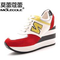 2014 color block decoration women's platform shoes fashion casual all-match c58135-2 lacing shoes