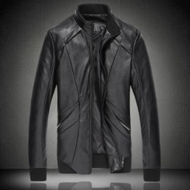 Winter&Autumn 2015 men Jacket Casual Fashion Leather Collar Slim PU Machine Wagon mens Jacket Coat 12.25-102()