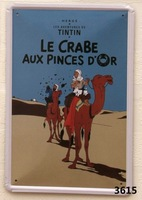 CRABE AUX PINCES D'OR  Home Decoration Retro Tin Signs Wall Art decor Bar Vintage Metal Craft Painting Wall Stickers Plaque