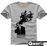 Free Shipping Men Cotton Quentin Tarantino Shirt Cute Gray Pulp Fiction Tees For Men & Women