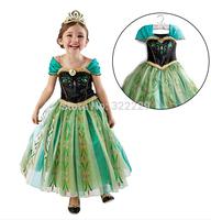 Free shipping 2015 spring and summer Frozen gauze dress princess dress children dress 6 selection