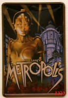 METROPOLIS Home Decoration Retro Tin Signs Wall Art decor Bar Vintage Metal Craft Painting Wall Stickers Plaque