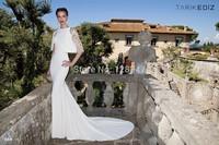 Tarik Ediz amazing design white mermaid cap remove pattern  2 piece prom dresses 2015 for winter RT-617