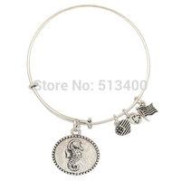 Vnistar 10pcs/lot America hot antique silver Sea horse Alex and ani bangles & bracelets for women VAB111
