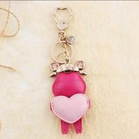 Milesi - New 2015 Brand Lovely Sheep Key Chain Keychain Key Ring for Women Keyholder Novelty Trinket innovative Gift Bag Pendant