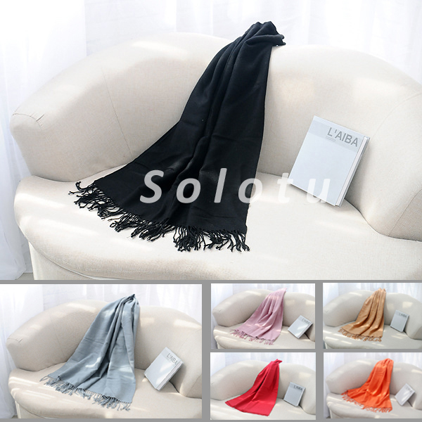 new hot sale warm unisex scarves solid color Cotton scarf for women and Men in Winter warm shawl(China (Mainland))