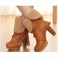 Free shipping 2015 new botas femininas autumn winter women riding boots female high heel thick heel women's boots P-D0011