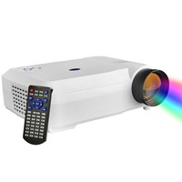 New Arrival 5.8 Inch Single LCD Panel Display LED Projector for Home Theater Support HDMI / VGA / AV-in / Micro SD
