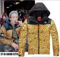 2015 new winter coat Leopard outdoor coat warm coat padded jacket Men coat