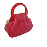 Handbag mini double handle bag quinquagenarian tote bag coin purse small bag mummy ostrich grain hand messenger bag female