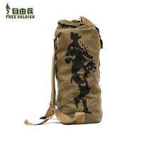 Tactical outdoor mountaineering backpack bag canvas bucket bag travel bag