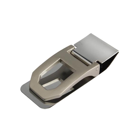 Stainless Steel Spring Money Cash Clip Pocket Slim ID Credit Card Money Clips Holder Black New