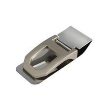 Stainless Steel Spring Money Cash Clip Pocket Slim ID Credit Card Money Clips Holder Black New #1JT