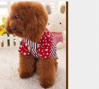 Pet clothes Small dogs clothes pocky stripe polo shirt Teddy VIP dog clothesDog Harness Fashion DesighDog dress  free shipping