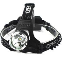 Camping Hiking  Led Headlight Cree XM-L T6 LED 1200LM cree Led Headlamp Light+AC Charger+18650 18650mAh Battery