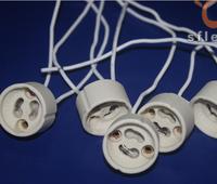50pcs/lot LED Strip Connector GU10 Socket For Halogen Ceramic Light Holder Base Wire Jack Free Shipping Wholesale