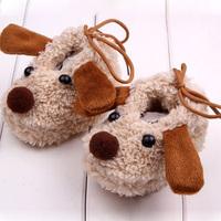 Baby Newborn Infant Girls Coral Fleece Shoes Cartoon Crib Shoes Socks Prewalkers Free Shipping