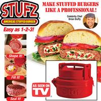 80PCS/lot New 2014 Hamburger Burger Maker Press STUFZ BBQ ferramentas barbecue novelty households Kitchen cooking tools #GN8638