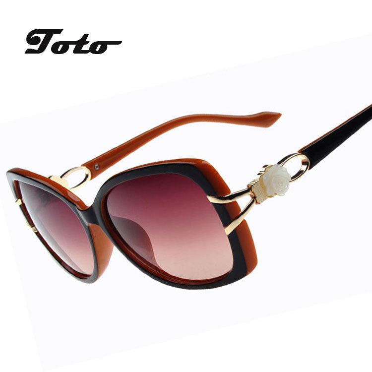2015 Brand New Women Luxury Designer Sunglasses Oversized Big Frame Eyewear Gradient Lens Multi color Flower Accesseries D107(China (Mainland))