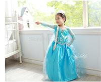 2015 new summer girl long-sleeved princess dress girls Forzen kids girl dress free shipping BX-24