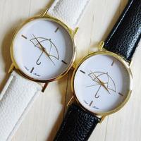 New Arrival Free shipping wholesale Fashion Y.B Women Girls Umbrella Style Dial Pu Leather Quartz Watch Wrist watches