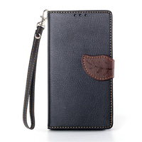 Cute Wallet Leather Flip Case for Sony Xperia Z1 Leaf Design Phone Cases Cover Fundas Capa Para for Xperia Z1 With Card Slots