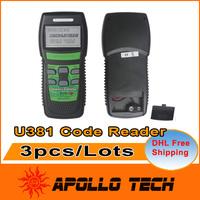[3pcs/lot] Hot-sales Universal Auto Diagnostic Scan Tool Memoscan U381 LIVE DATA OBD2 OBDII EOBDII Code Reader DHL Free Shipping