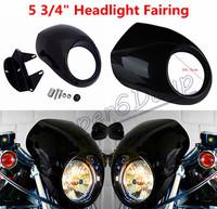 Free shipping Headlight Fairing Mask For Harley Sportster Front Cowl XL 1200 883 Low Visor Flyscreen Visor Drag Dyna V-Rod FX