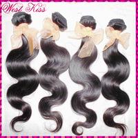 4pcs/lot Original human 8a Brazilian Virgin hair body wave (wet nd wavy) bundles deal FLAWLESS WestKiss products free shipping