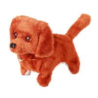 New Children Child Kids Plush Walking Barking Electronic Dog Toy Brown V3NF