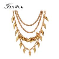 2015 Bisuteria Gold Color Collars Necklace Acessorios Para Mulher Joyeria For Women Bijoux Women