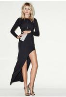2015 spring and summer big deep V halter dress skirt hem oblique stretch Slim dress freeshipping
