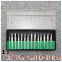 """30PCS/set Drill Bits Kits Nail Drill Set Shank 3/32"""" Manicure and Pedicure Dropshipping + Free shipping"""
