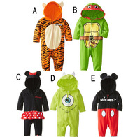 BR054 Free shipping 2014 new arrival baby romper cartoon character baby boys & girls jumpsuits newborn lovely clothes retail
