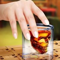 2015 Creative Doomed Crystal Skull Head Vodka Shot Glass, Novelty Skeleton Head Wineglass Cup For Whiskey, 84pcs/lot