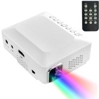 High Quality DLP Display Portable Mini LED Projector Support HDMI/AV/VGA/USB Size 110x95x50mm