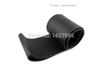 1 шт. черный DIY автомобиля руль обложка с иголок и ниток искусственная кожа