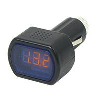 Automotive supplies wholesale vehicle safety testing mini cigarette lighter DC12-24V voltage voltmeter car accessory