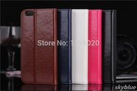 "Wholesale 500pcs/lot phone cases Oil wax pattern genuine cover bag sheath leather case for iphone 6 5.5"" case for iphone 6 plus"