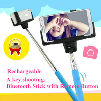 TP25  Extendable Handheld Wireless Bluetooth Selfie Monopod Bluetooth Stick with Remote Button For iPhone 4 5 5S 5C Samsung  S5