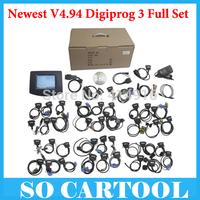 Newest V4.94 Digiprog III Digiprog3 Odometer Master Programmer with full software digiprog 3 full set Multi language by DHL