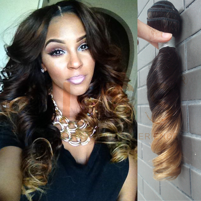 Sallys Hair Color Bliss Hair Free Shipping 2pcs Ombre Hair Extension Color 1b 27 Mongolian