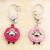 Milesi - New 2015 Brand Sheep Key Chain Keychain Rings for Women Key holder Keyring Novelty Trinket innovative Gift Bag Pendant
