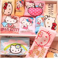 Lovely Kawaii  3 ~7 Years Children Girls Panties Hello Kity Cartoon Kids Striped Underwear