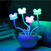 LED Free shipping New Style 2015 Lamp Mushroom Night Light frozen chandelier New strange gift LED light nachtlampje Lamp