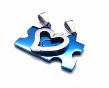 Drop Shipping 1 Pair 2014 New Men s Women s Couple Lovers Stainless Steel Love Heart